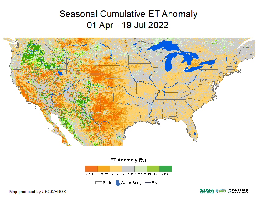 Actual Evapotranspiration (ETa)